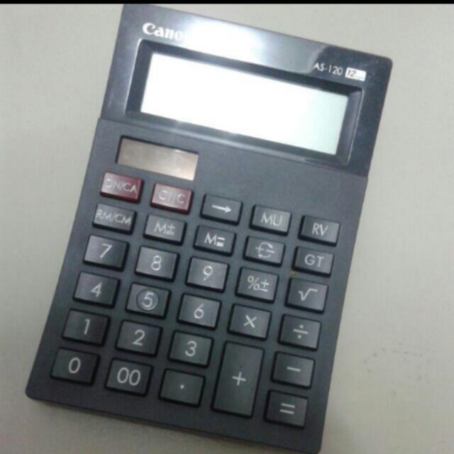 Canon manual calculator