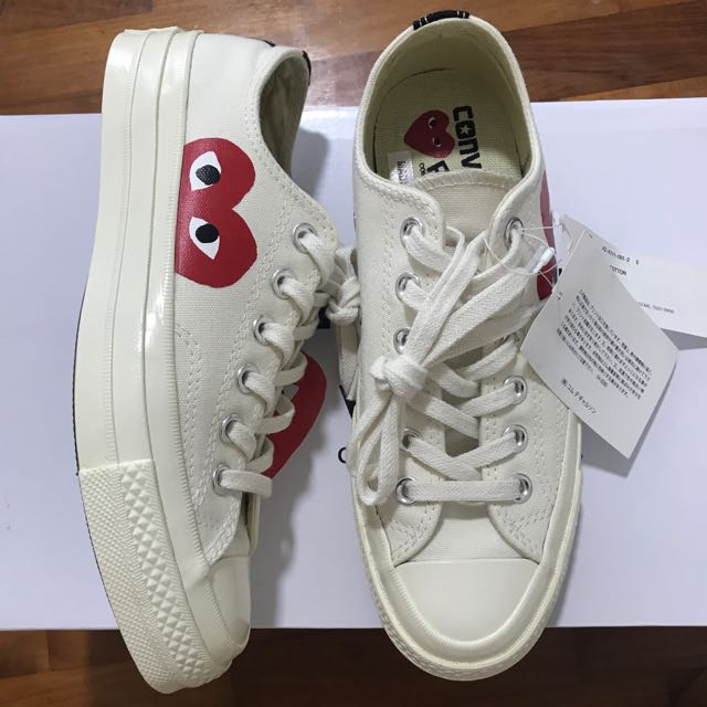 1d0251eb3b1e CDG Play Converse Chuck Taylor All Star  70 Low (White Cream)