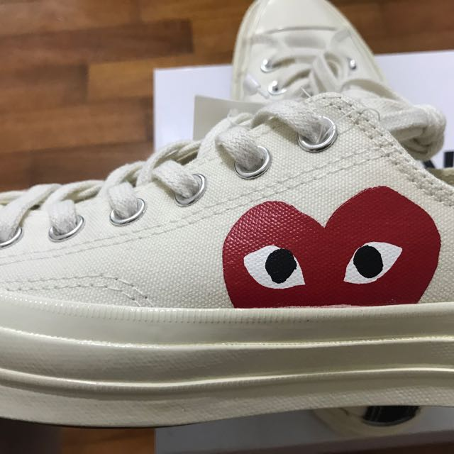 61393346e225 CDG Play Converse Chuck Taylor All Star  70 Low (White Cream)