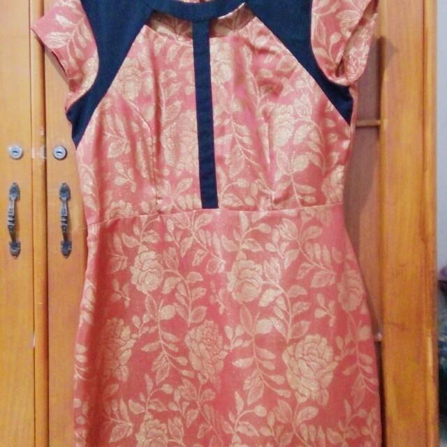 CELINE sparkling rose dress