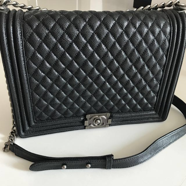 d38e0b5ce848 **Chanel Boy Large Caviar, Women's Fashion, Bags & Wallets on Carousell