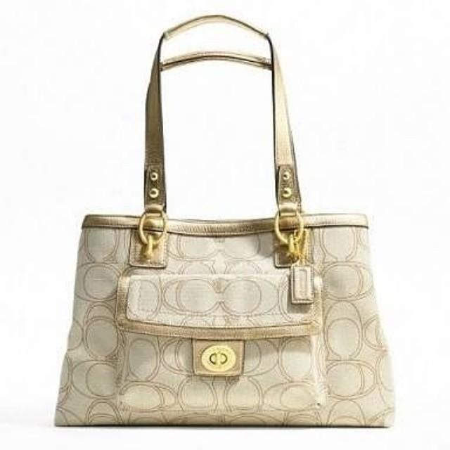 Coach Penelope Linen Signature Carryall Handbag