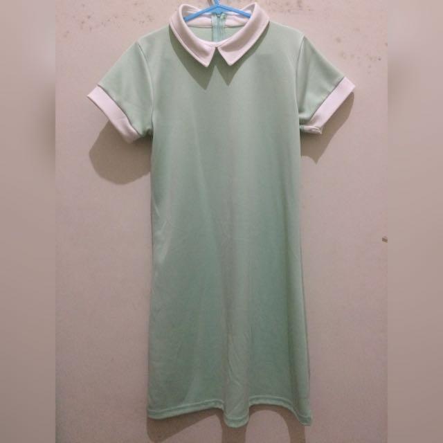 Collar Dress (mint)