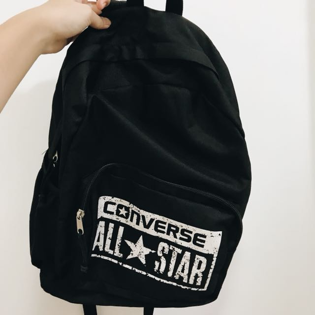 d14e47c55984 Converse old school black and white simple backpack