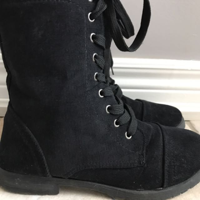 Cordoury Combat Lace Up Boots