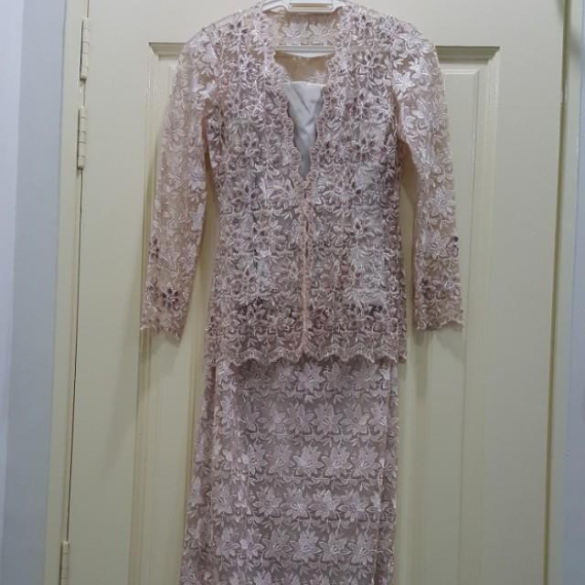 Custom Made Beaded Lace Kebaya