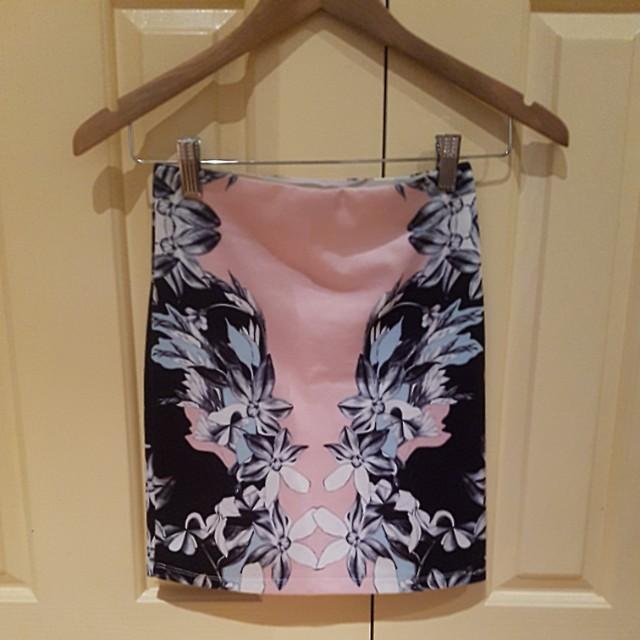Dotti floral bodycon skirt
