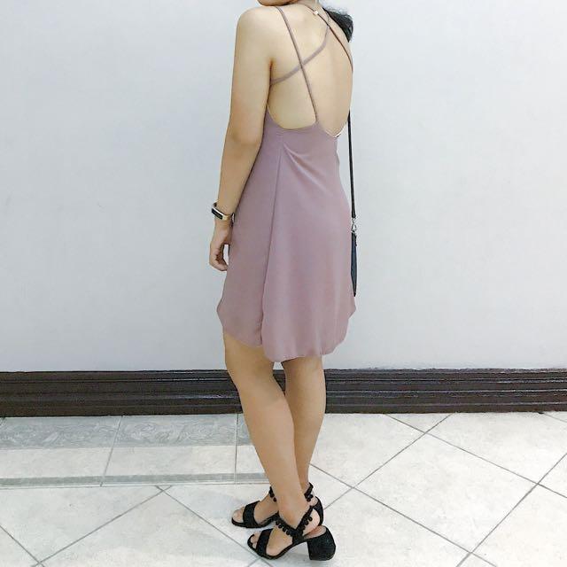 Dusty Lilac Sexy-Back dress