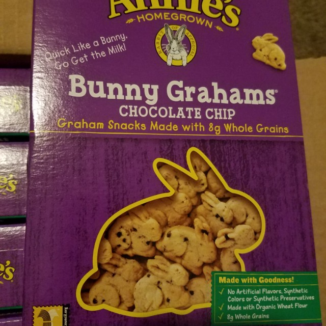 Expired Mar 16 2017 Annie's Chocolate Chip Bunny Grahams Whole Grain Snacks, 7.5 Ounce (Pack of 12)