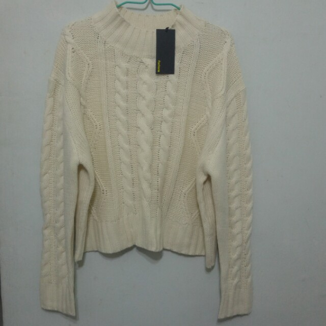 2b9c638f4 Factorie White Knit Sweater