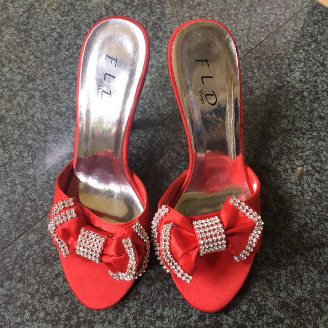 FLD Red Sandal (for Party)