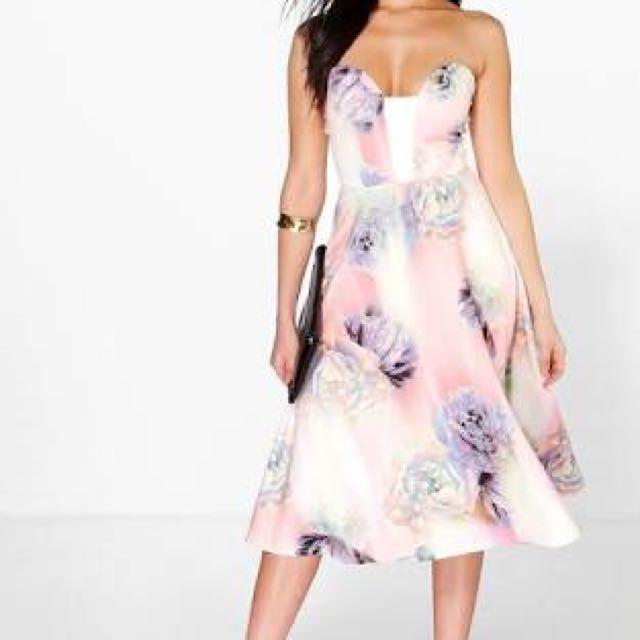 Floral dress boohoo