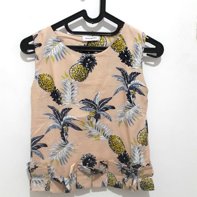 Flower/ Fruit Shirt Mayoutfit Salem Lengan Buntung / Tanktop / Inner