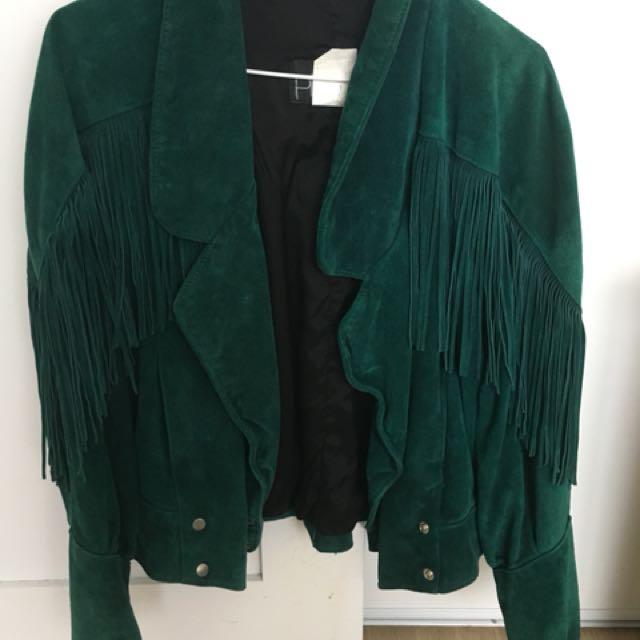 Forest Green Suede Vintage Jacket