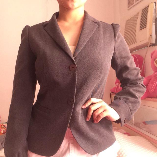 Gray women coat