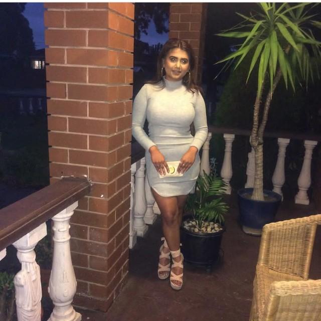 Grey turtleneck mini dress bodycon
