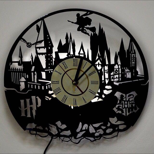Harry Potter Vinyl Record Wall Clock Lamp
