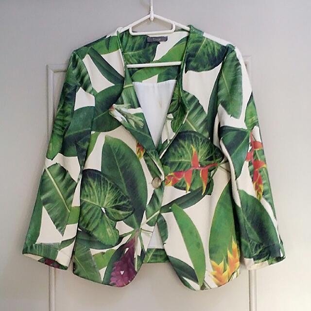 High-quality printed blazer