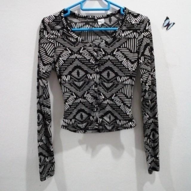 H&M Aztec cropped cardigan