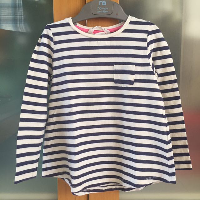 H&M black & white stripes long sleeves t-shirt