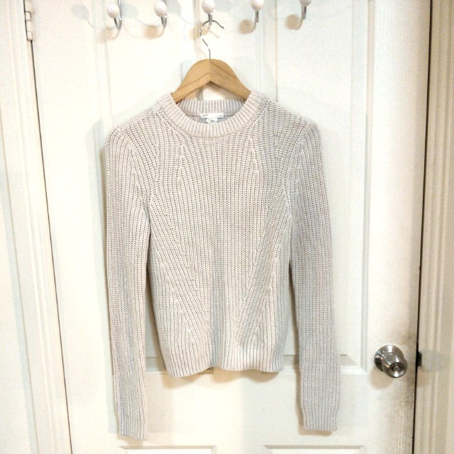 H&M Cream Knit Jumper - Size XS
