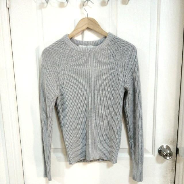 H&M Grey Knit Jumper - Size XS