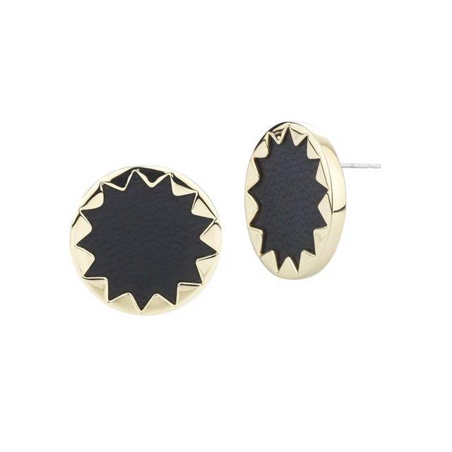 House of Harlow 1960 黑色太陽神 耳環 飾品