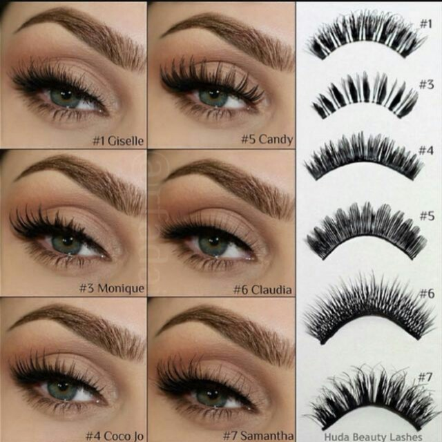 00eaeceea4a Huda Beauty False Eyelashes, Health & Beauty, Makeup on Carousell