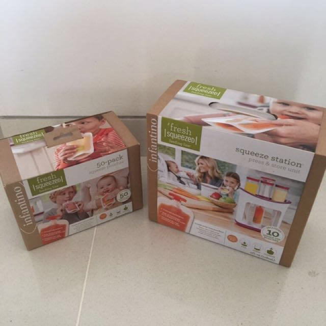 Infantino Squeeze Station & Squeeze Pouch Bundle