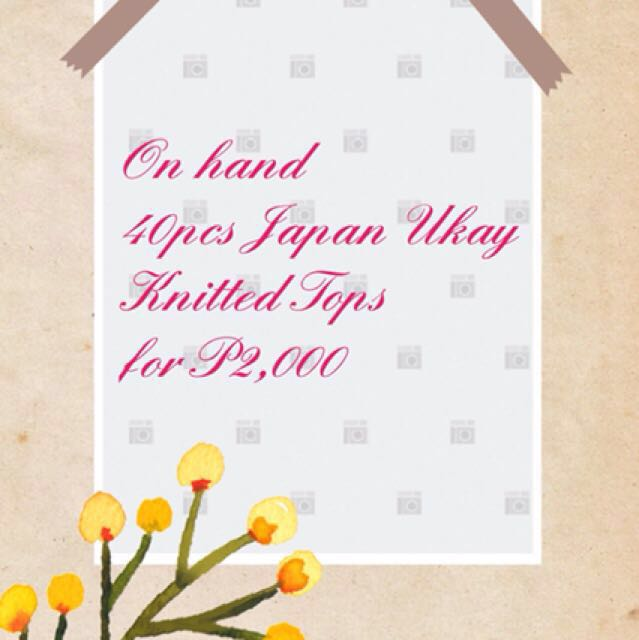 Japan Ukay Knitted Tops