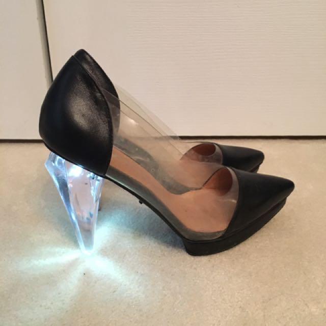 Jeffrey Campbell light up glass heels size 9.5