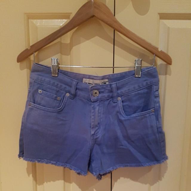 Just jeans violet denim shorts