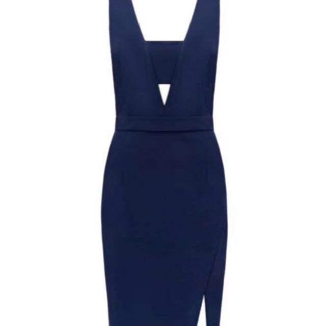 Kendal & Kylie Forever New - Navy Wrap Dress