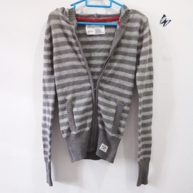Knitted hoodie jacket