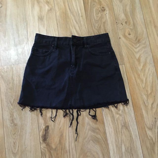 Lee black denim skirt (6)