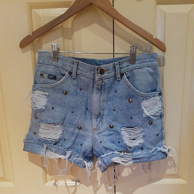 Lee denim shorts with embellishments