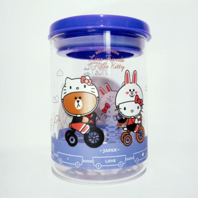LINE & Kitty 聯名耐熱玻璃罐