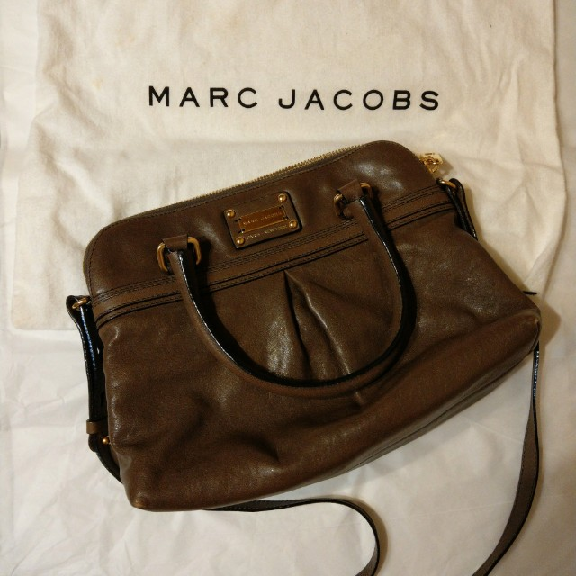 Marc Jacobs 牛皮肩背/手提包 -褐色