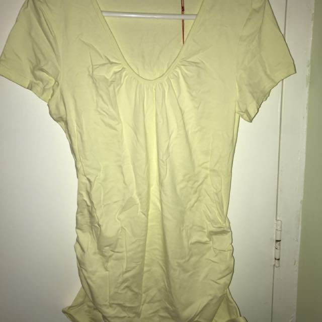 Maternity top, very tender shade of yellow
