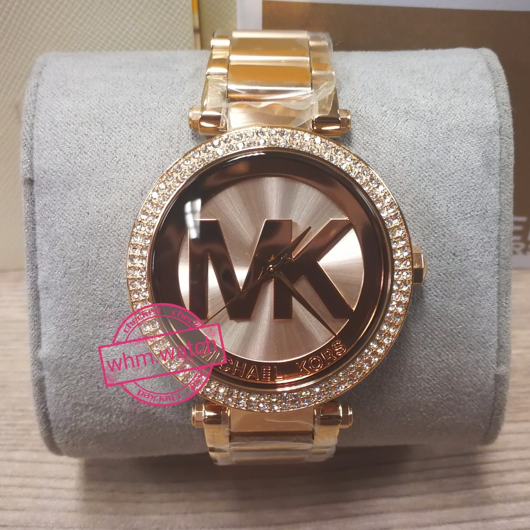cc90d53f058 MICHAEL KORS(MK watch)  MK5865 Parker Pavé Rose Gold-Tone Watch ...
