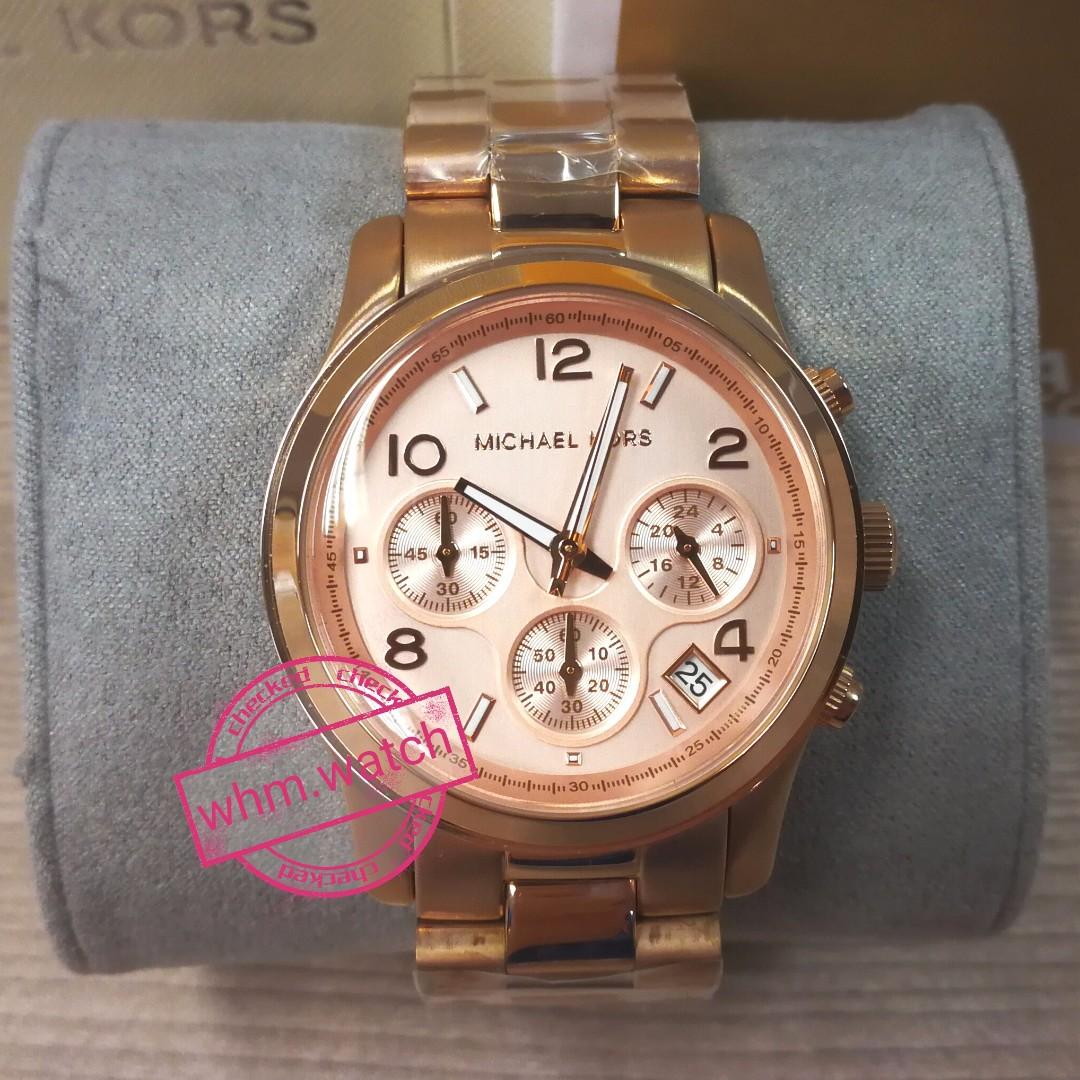 71b4bb8710ee MICHAEL KORS(MK watch) style MK5128 Runway Chronograph Gold Dial ...