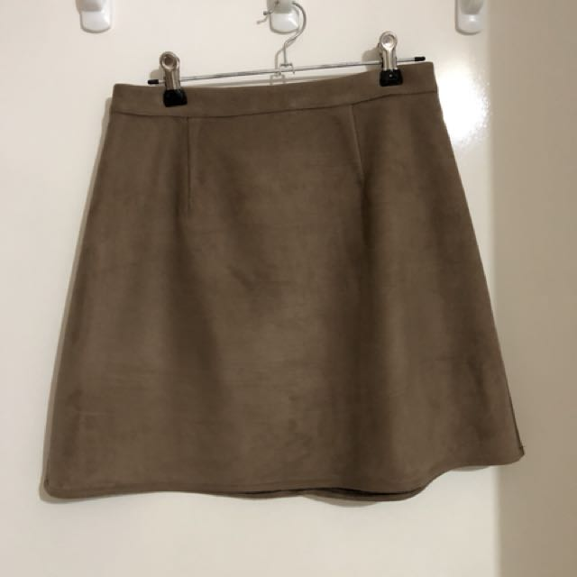 Misguided Faux Suede Skirt
