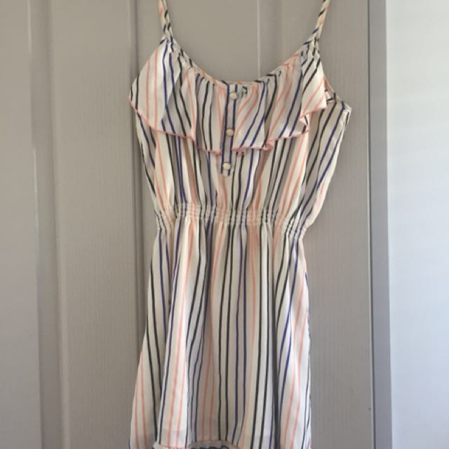 Miss Shop Striped Above Knee Dress