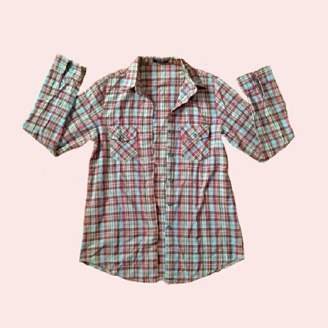 Multicolored Checkered Flannel