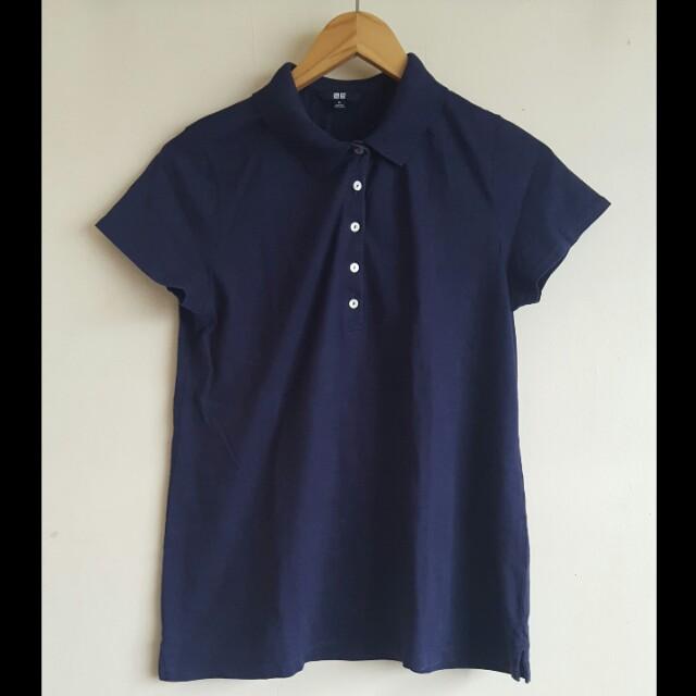 Navy Blue UNIQLO Collared Shirt (XL)