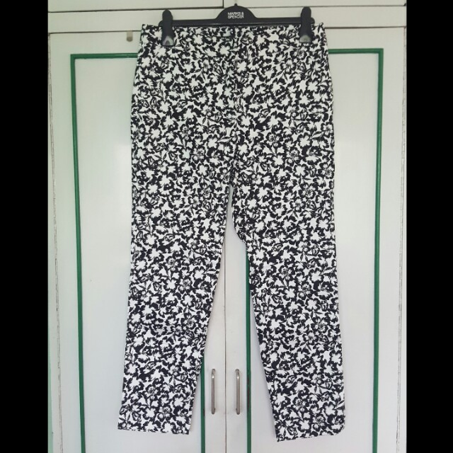 NEW Warehouse Black and White Pants (14)