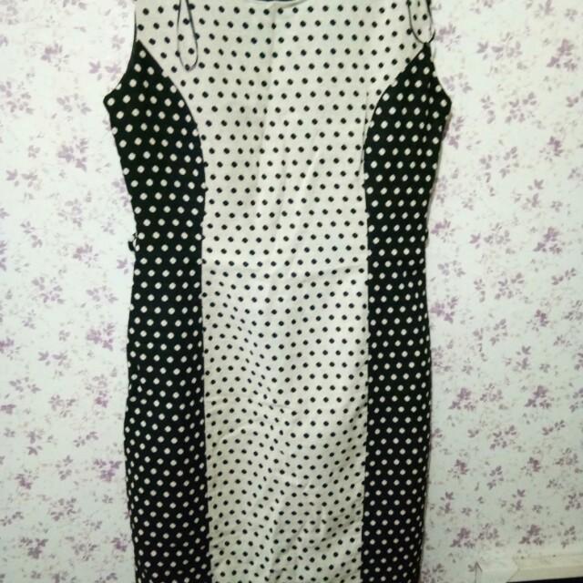 NEXT black w/polka dress