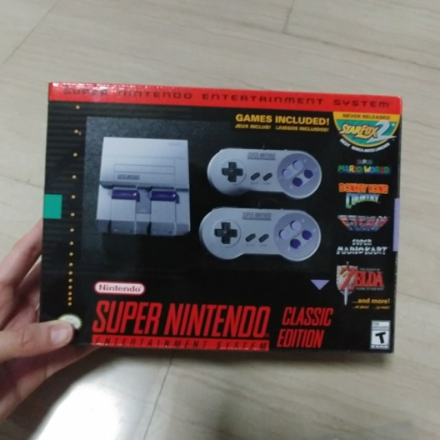 Nintendo Super Nes Classic Console with 21 Games snes