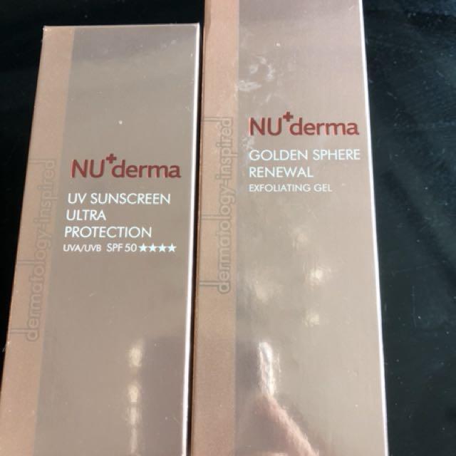 NU+ derma 去角質膠&防曬隔離霜(SPF50)