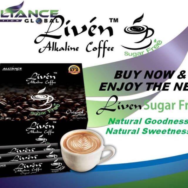 Organic Liven coffee with sugar free